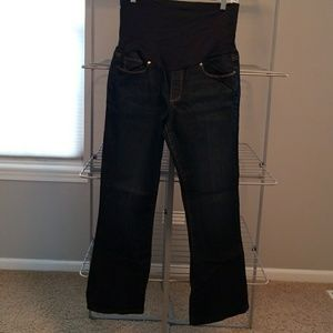 Paige skyline boot full panel maternity jeans 32